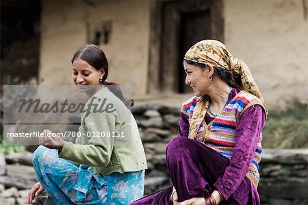 Portrait of Women, Manali, Himachal Pradesh, India