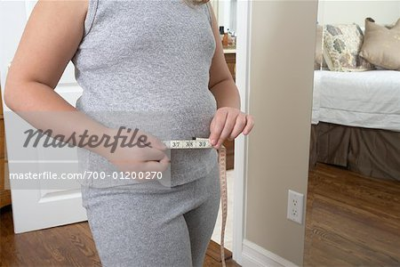 Girl Measuring Waist Stock Photo - Rights-Managed, Image code: 700-01200270