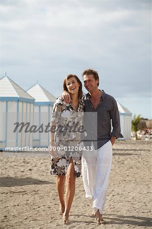 Couple at Beach Stock Photo - Rights-Managed, Image code: 700-01200433