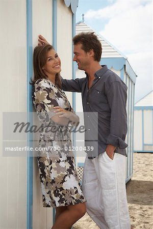 Couple at Beach Stock Photo - Rights-Managed, Image code: 700-01200439