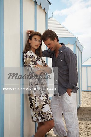 Couple at Beach Stock Photo - Rights-Managed, Image code: 700-01200440