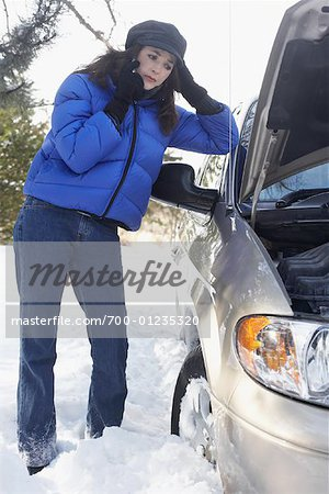 Woman With Car Trouble Stock Photo - Rights-Managed, Image code: 700-01235320