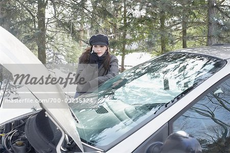 Woman Having Car Trouble Stock Photo - Rights-Managed, Image code: 700-01235324
