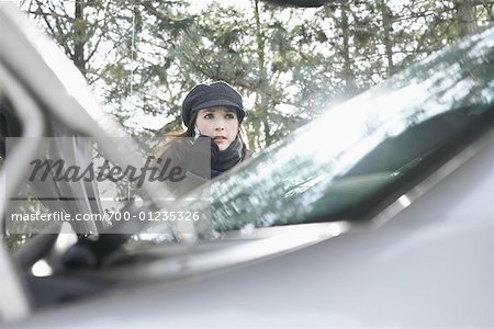 Woman Having Car Trouble Stock Photo - Rights-Managed, Image code: 700-01235326