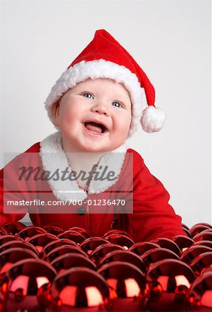 Baby Boy Dressed as Santa