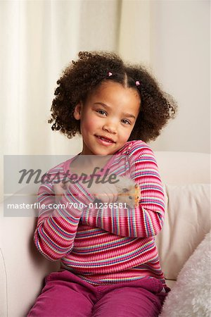 Portrait of Girl with Hamster Stock Photo - Rights-Managed, Image code: 700-01236581