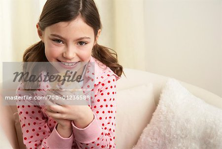 Portrait of Girl with Hamster Stock Photo - Rights-Managed, Image code: 700-01236588