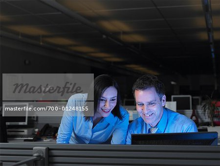 Businesspeople Working Late Stock Photo - Rights-Managed, Image code: 700-01248155