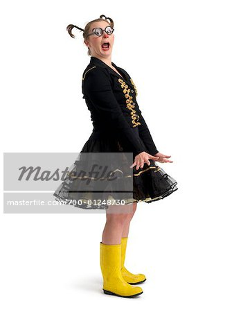 Portrait of Woman Dressed as Clown Stock Photo - Rights-Managed, Image code: 700-01248730
