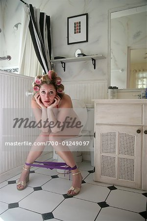 Woman in Bathroom Stock Photo - Rights-Managed, Image code: 700-01249097