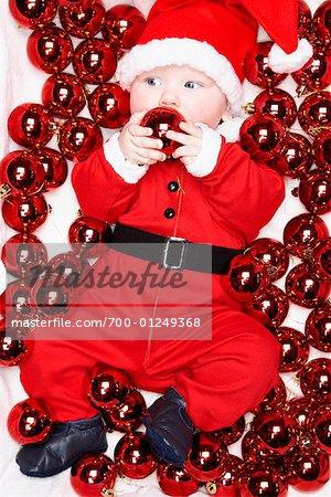 Baby Dressed as Santa