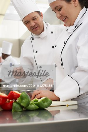 Chefs in Kitchen Stock Photo - Rights-Managed, Image code: 700-01275188