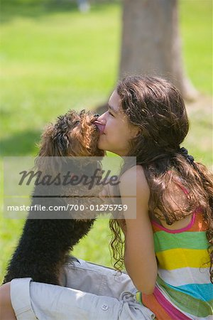 Girl with Dog Stock Photo - Rights-Managed, Image code: 700-01275759