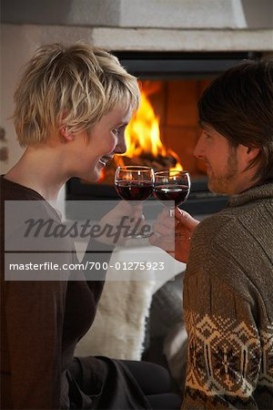 Couple Drinking Wine Stock Photo - Rights-Managed, Image code: 700-01275923