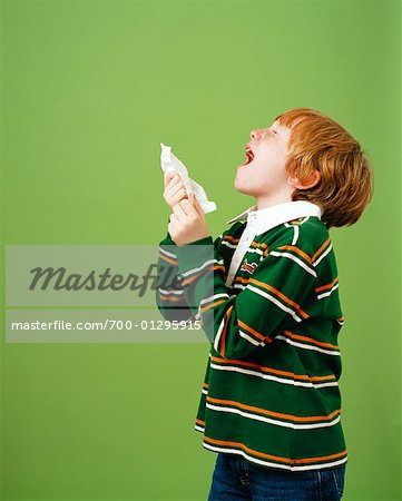 Boy Sneezing Stock Photo - Rights-Managed, Image code: 700-01295915