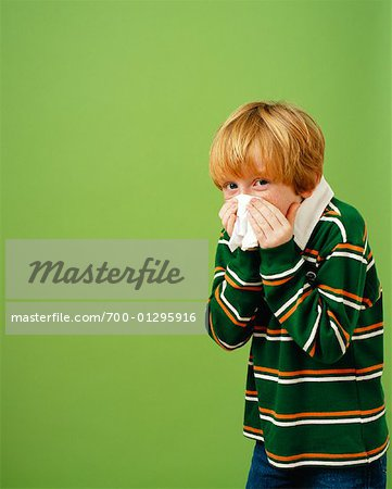Boy Sneezing Stock Photo - Rights-Managed, Image code: 700-01295916