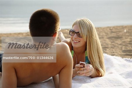 Couple at Beach Stock Photo - Rights-Managed, Image code: 700-01344626