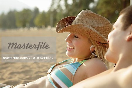 Couple at Beach Stock Photo - Rights-Managed, Image code: 700-01344629