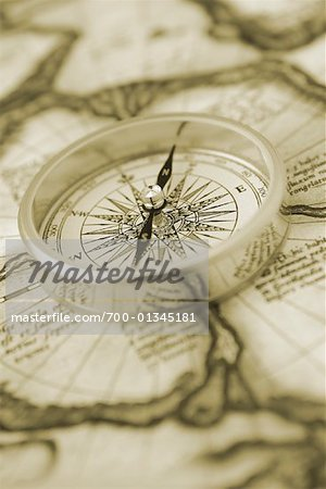 Close-Up of Compass Stock Photo - Rights-Managed, Image code: 700-01345181