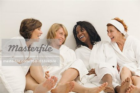 Women in Bathrobes