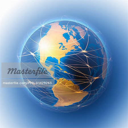 Lines Around Globe Stock Photo - Rights-Managed, Image code: 700-01429263