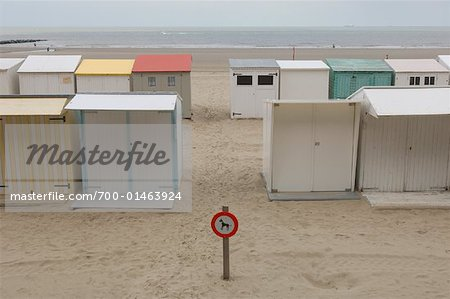 Beach Cottages, Blankenberge, Belgium Stock Photo - Rights-Managed, Image code: 700-01463924