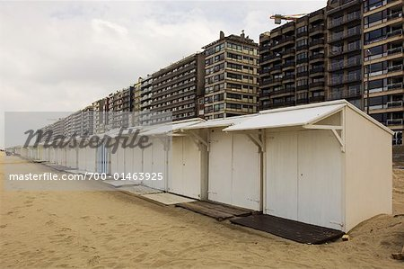 Beach Cottages and buildings, Blankenberge, Belgium Stock Photo - Rights-Managed, Image code: 700-01463925