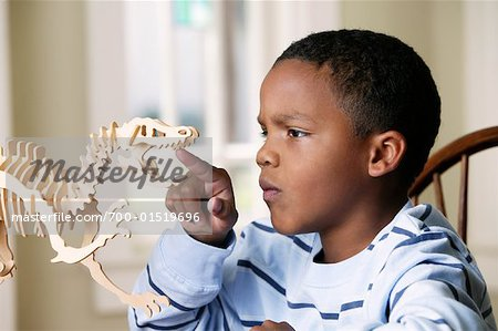 Boy with Model Dinosaur Stock Photo - Rights-Managed, Image code: 700-01519696