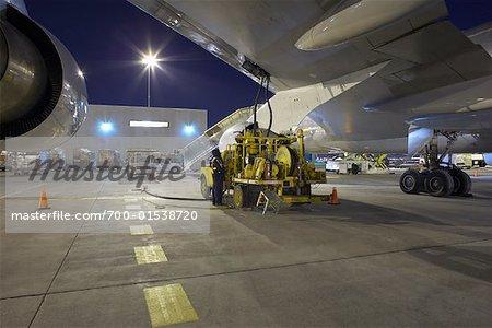 Fueling Cargo Plane, Toronto Pearson International Airport, Toronto, Ontario, Canada