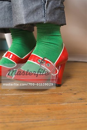 High Heel Shoes on Feet Stock Photo - Rights-Managed, Image code: 700-01539029
