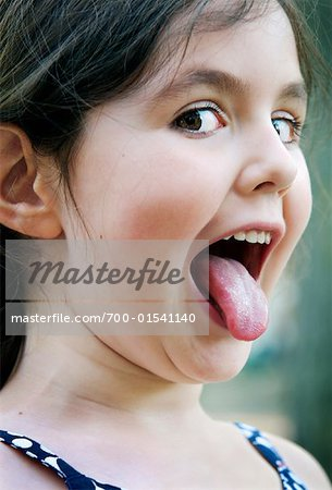 Portrait of Girl Making Faces Stock Photo - Rights-Managed, Image code: 700-01541140