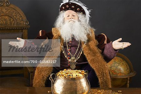 King With His Treasure Stock Photo - Rights-Managed, Image code: 700-01582217