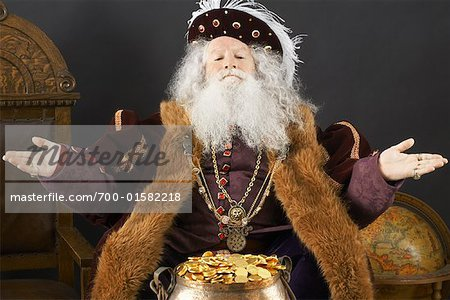 King With His Treasure Stock Photo - Rights-Managed, Image code: 700-01582218