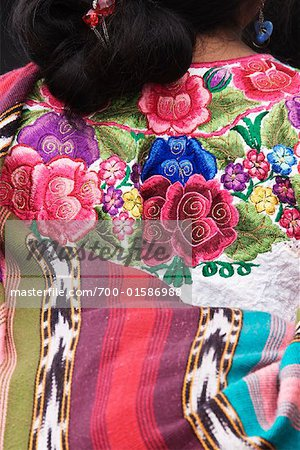 Close-up of Woman's Blouse, Chichicastenango, Guatemala