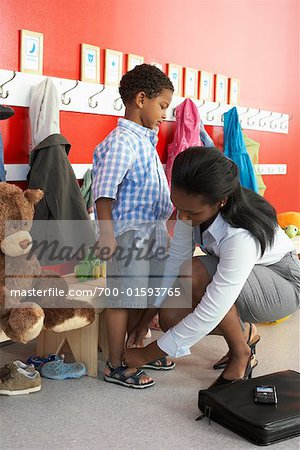 Mother and Son at Daycare Stock Photo - Rights-Managed, Image code: 700-01593765