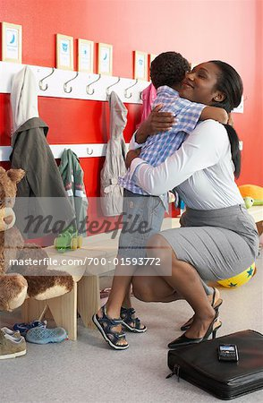 Mother and Son at Daycare Stock Photo - Rights-Managed, Image code: 700-01593772