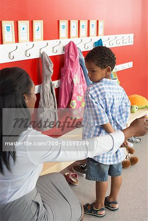 Mother and Son at Daycare Stock Photo - Rights-Managed, Image code: 700-01593789
