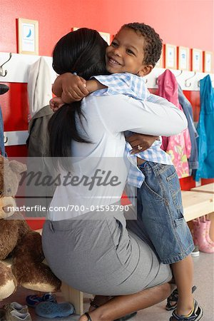 Mother and Son at Daycare Stock Photo - Rights-Managed, Image code: 700-01593790