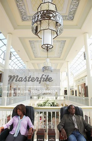People Resting at the Mall Stock Photo - Rights-Managed, Image code: 700-01594057