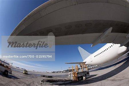 Airplane on Tarmac, Toronto Pearson International Airport, Toronto, Ontario, Canada