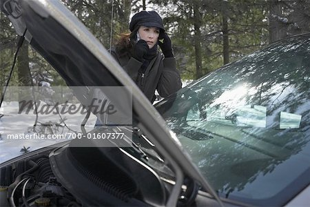 Woman with Broken Down Vehicle Stock Photo - Rights-Managed, Image code: 700-01607377