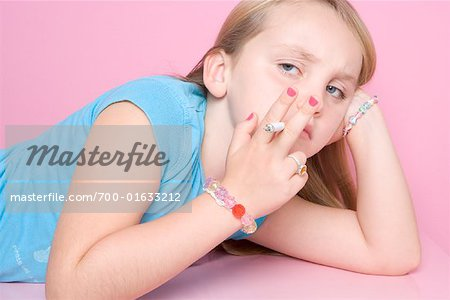 Girl Smoking Cigarette Stock Photo - Rights-Managed, Image code: 700-01633212