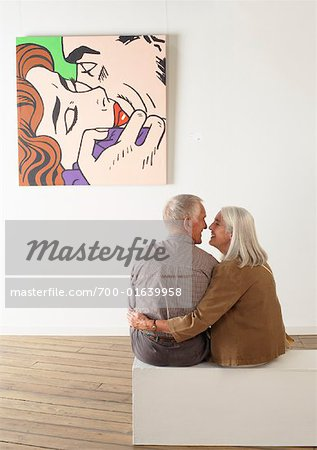 Couple in Art Gallery Stock Photo - Rights-Managed, Image code: 700-01639958