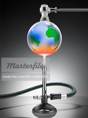 Globe Over Bunson Burner Stock Photo - Rights-Managed, Image code: 700-01694242