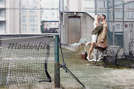 Couple on Tennis Court Stock Photo - Rights-Managed, Image code: 700-01695226