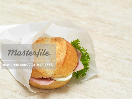 Sandwich in Paper Bag Stock Photo - Rights-Managed, Image code: 700-01716555