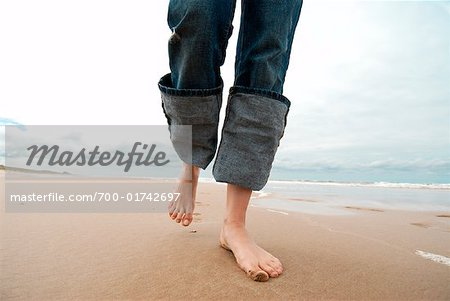 Woman's Legs Walking on Beach, Netherlands Stock Photo - Rights-Managed, Image code: 700-01742697