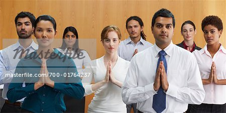 Business People in Meditative Position Stock Photo - Rights-Managed, Image code: 700-01764237