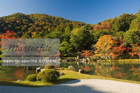 Sogen Pond in Tenryu-ji, Kyoto, Japan