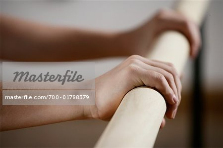 Close-up of Dancer's Hands on Bar Stock Photo - Rights-Managed, Image code: 700-01788379